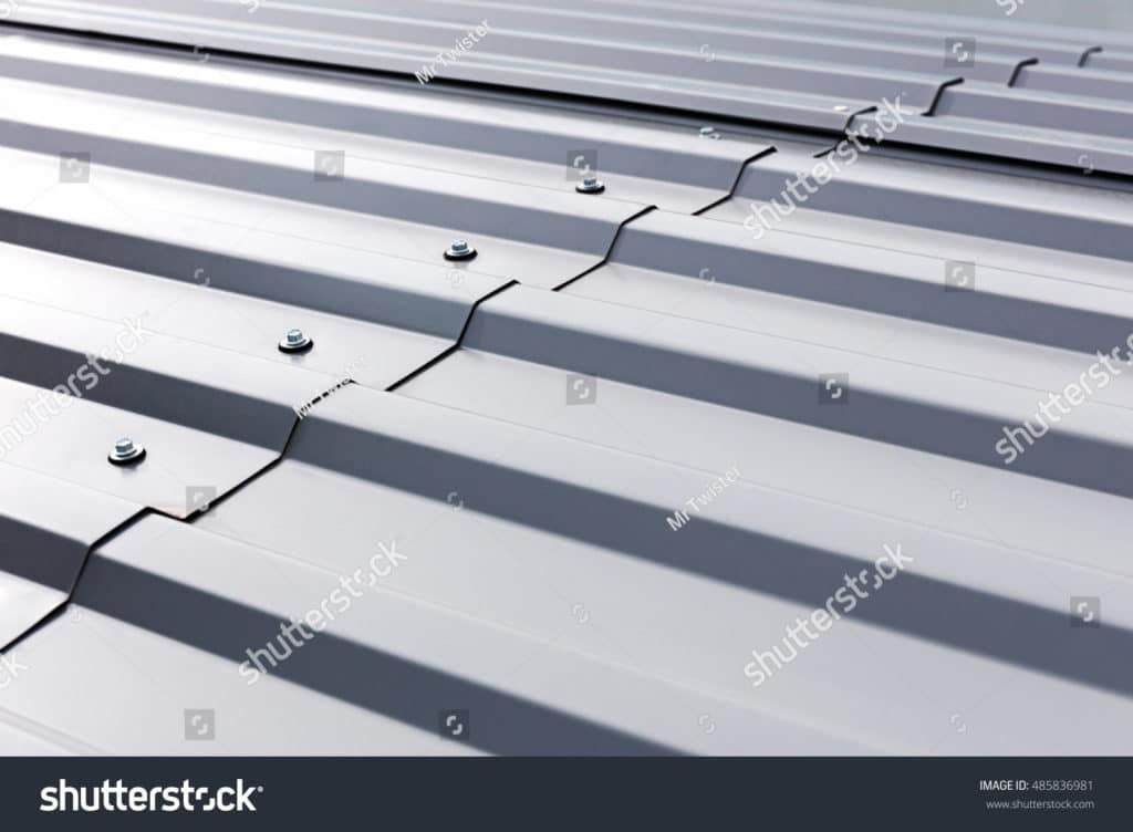 stock-photo-gray-corrugated-metal-cladding-on-industrial