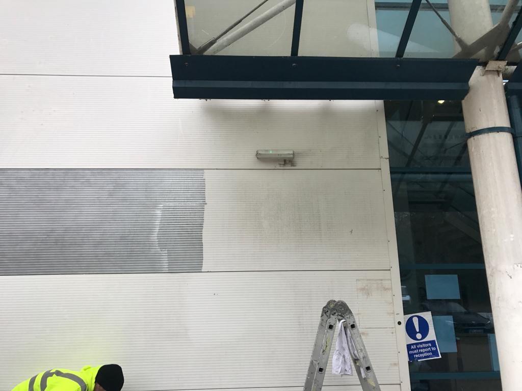 MPJ repair the discoloured & dented panel