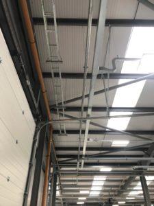 Ceiling to floor car warehouse repair and paint job
