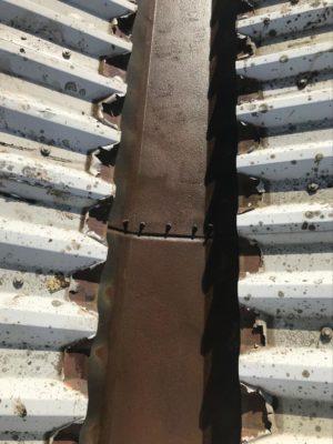 Gutter repair completed by MPJ Coatings